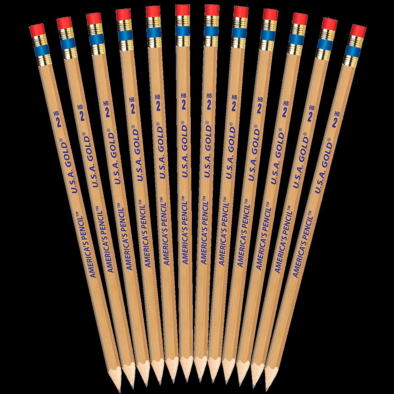 USA Gold wooden pencils