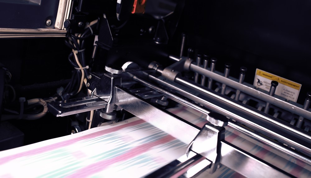 Colored paper production