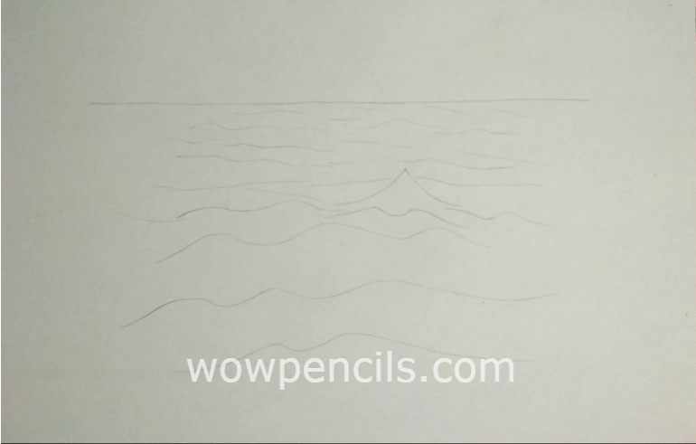Drawing of distant view