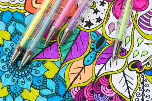 Gel pens for coloring book