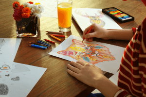Paint with colored pencils