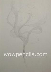 Draw swirling smoke in upper part