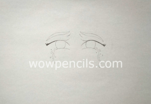 Drawing tears in eyes