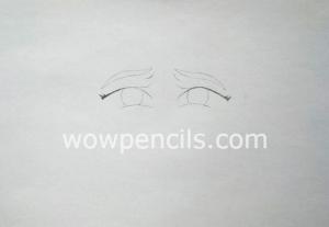 Eyebrows and circles of eyes
