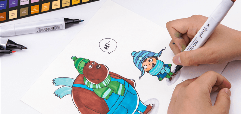 Drawing markers