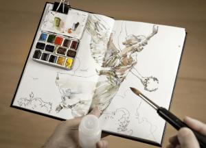 Moleskine sketchbooks use