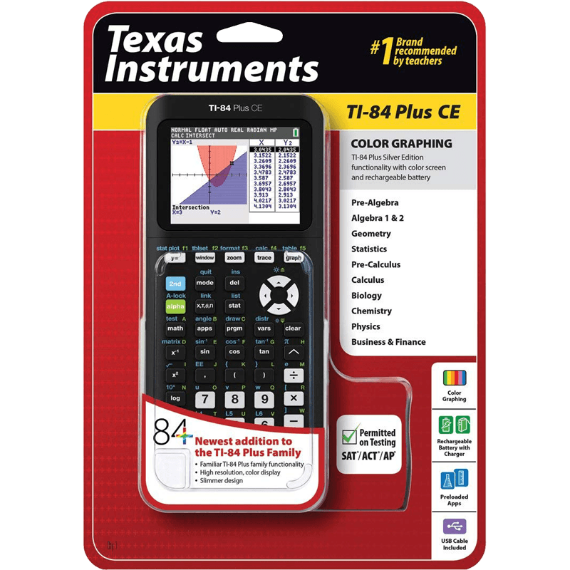 Review of TI-84 Plus CE Graphing Calculator at WoWPencils
