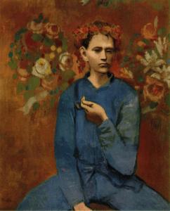 Boy with a Pipe (Garçon à la pipe) by Picasso