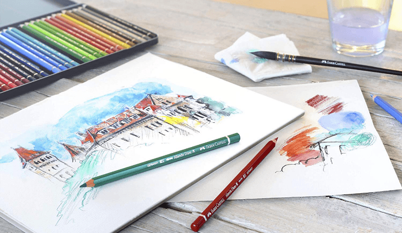 Difference between watercolor and colored pencils