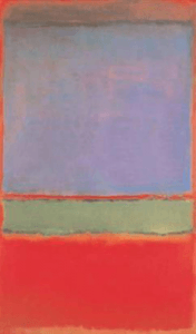 No. 6 (Violet, Green and Red) by Mark Rothko