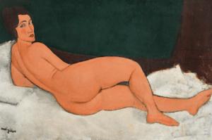 Nu Couché (sur le côté gauche) by Amedeo Modigliani