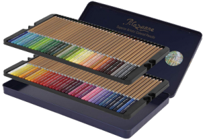 Set of 72 colored pencils