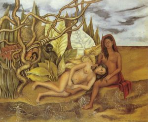 Two Nudes in the Forest by Frida Kahlo