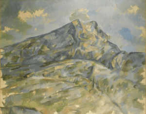 View of the mountain Sainte Victoire by Paul Cézanne