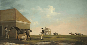 With a Trainer a Stable Lad and a Jockey by George Stubbs
