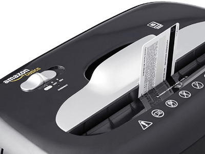Shredding credit card