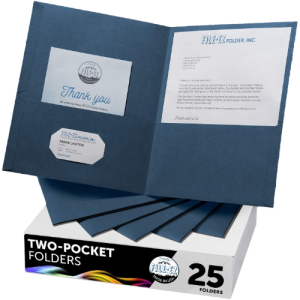 Blue Summit Supplies 25 Two Pocket Folders Designed for Office and Classroom Us
